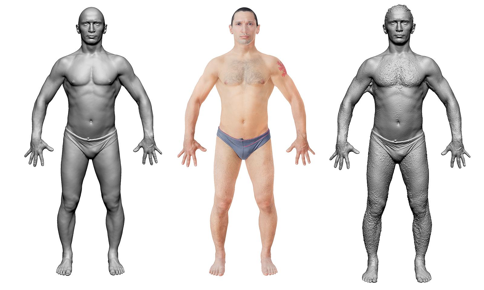 работа с 3d моделями людей