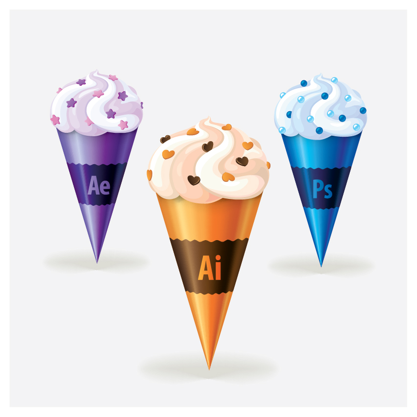 Ice cream vector icons