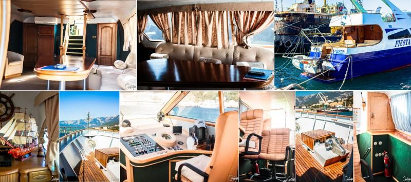 Съемка яхты на продажу