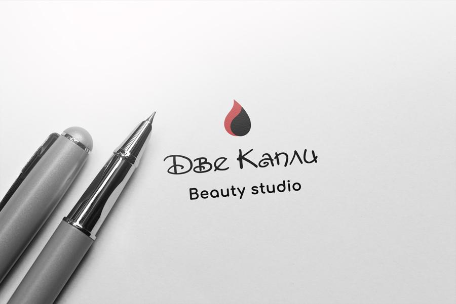 """Лого для makeup студии """"2 капли"""""""