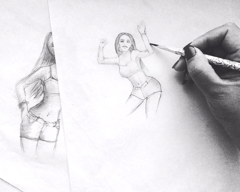 "Sketch for party ""BALE FUNK"", Sydney, Australia"