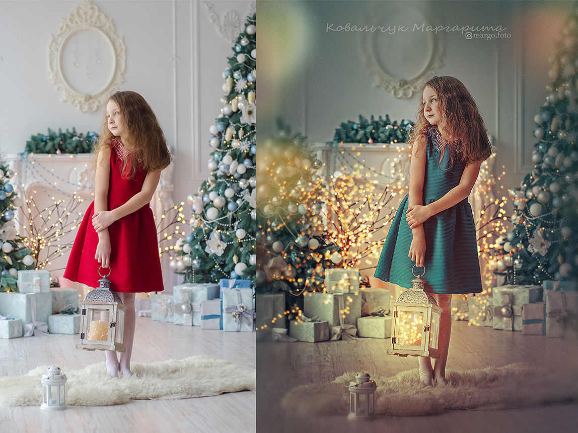 вот как обработать новогодние фото нежное прочное