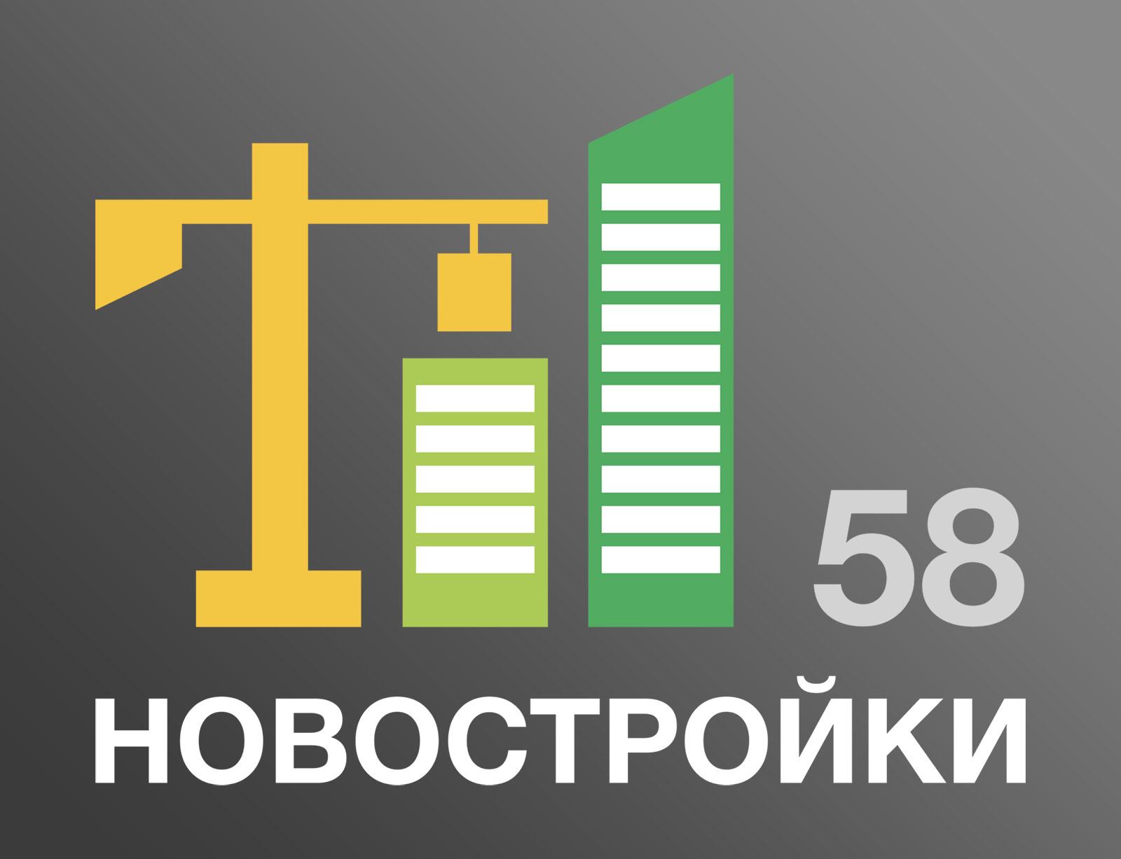 Логотип для агентства недвижимости novostroiki58.ru