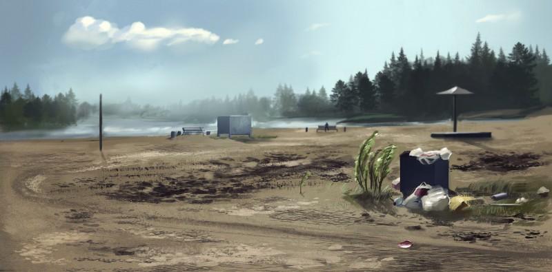 Стадик с фото. Российский пляж