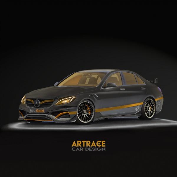 Mercedes-Benz C63 Artrace Mr GOLD