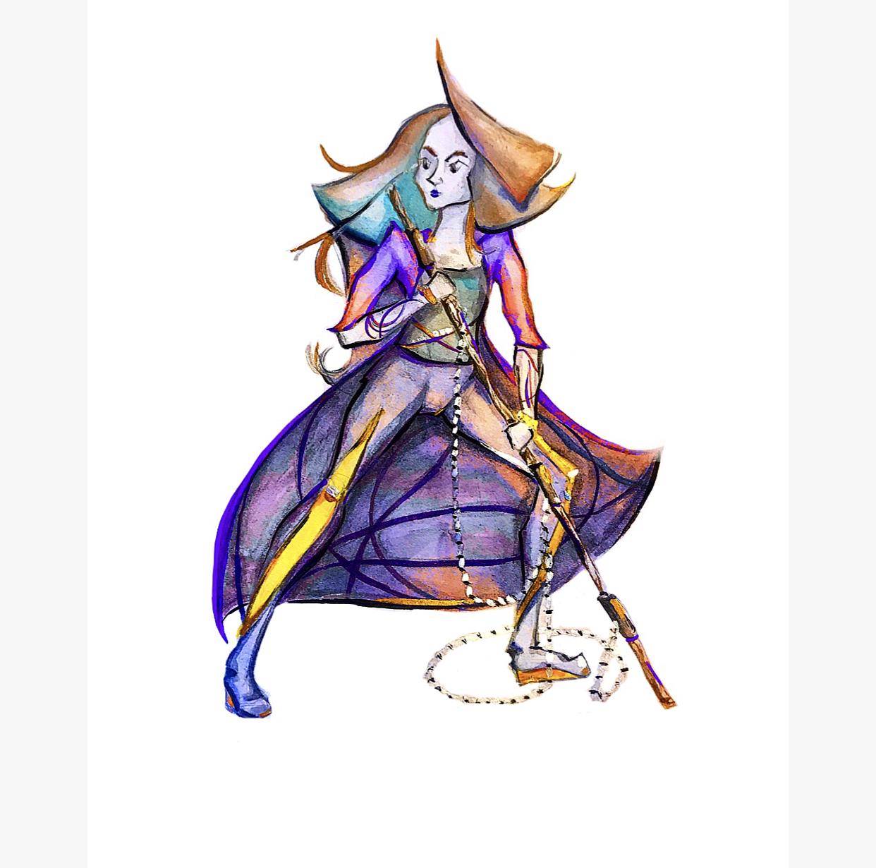 Боевой персонаж (скетч)