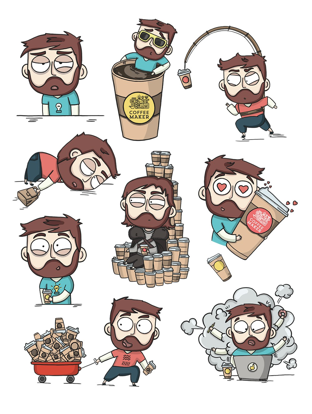 Стикеры для кофейни