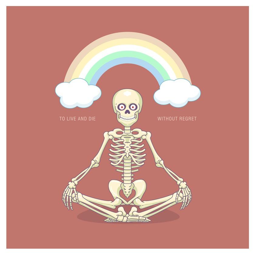 Скелетик медитирует