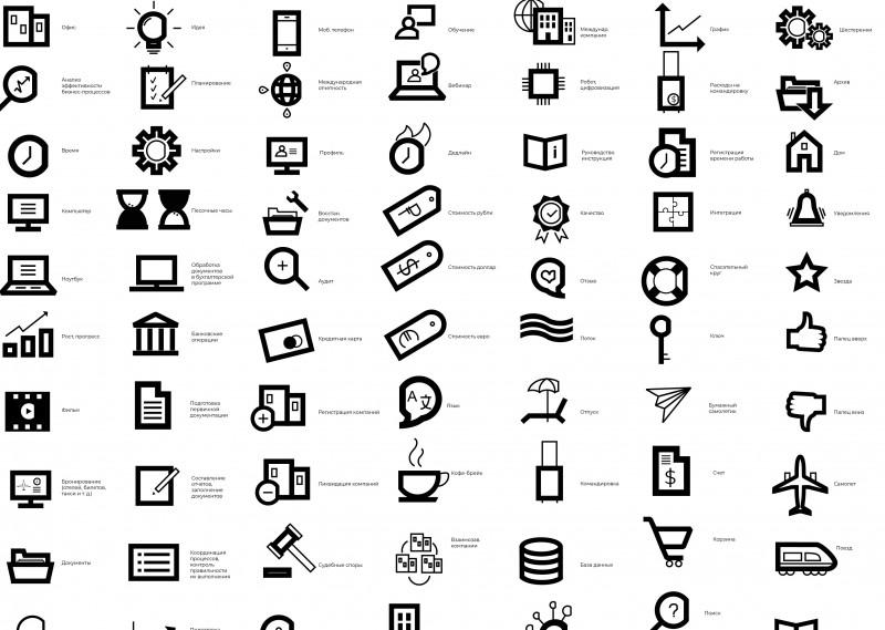 Коллекция иконок для сайта международной компании