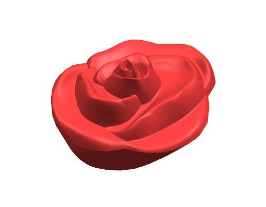 Твердотельная модель розы для отливки в пресс-форме