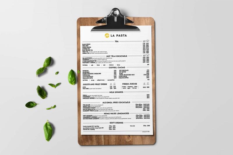 Верстка меню
