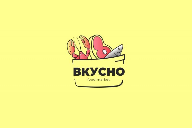 Разработка логотипа для Food Market - Вкусно