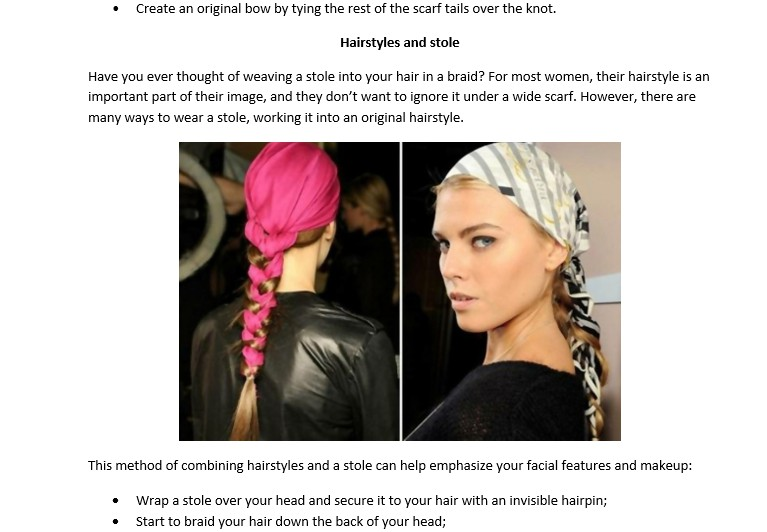10 elegant ways to tie a scarf. How to create magic