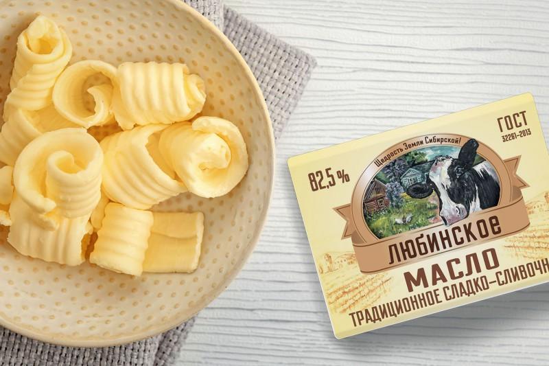 Упаковка для сливочного масла Любинское