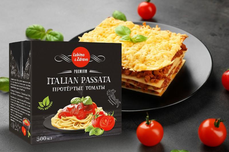 Упаковка для протертых томатов