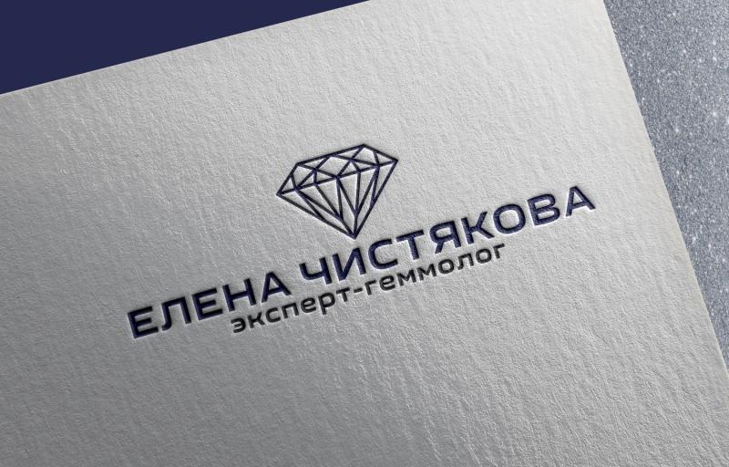 Логотип эксперта-геммолога по оценке ювелирных камней