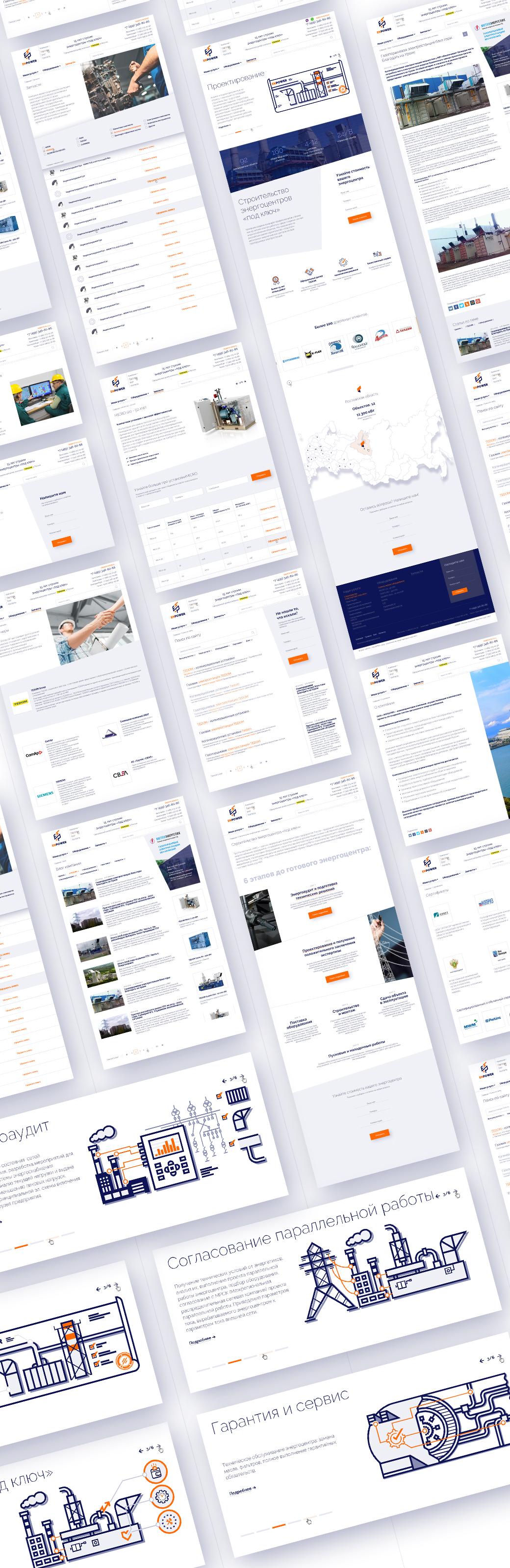 Разработка сайта для компании ENPOWER