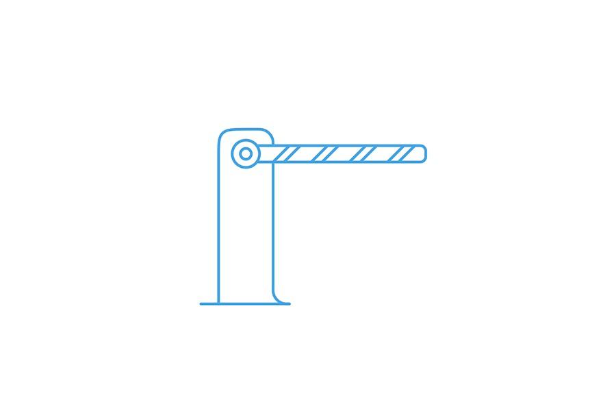 анимация иконки шлагбаума