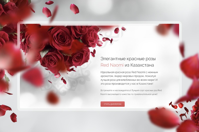 Лизайн лендинга для цветочной компании