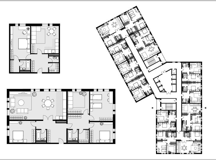 Планировка квартир.