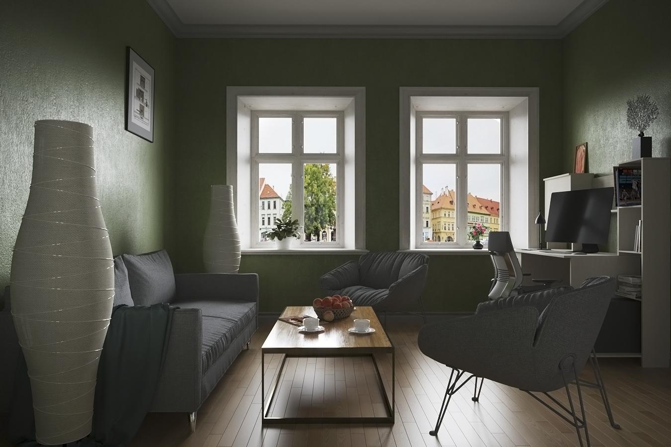Визуализация интерьера гостиной