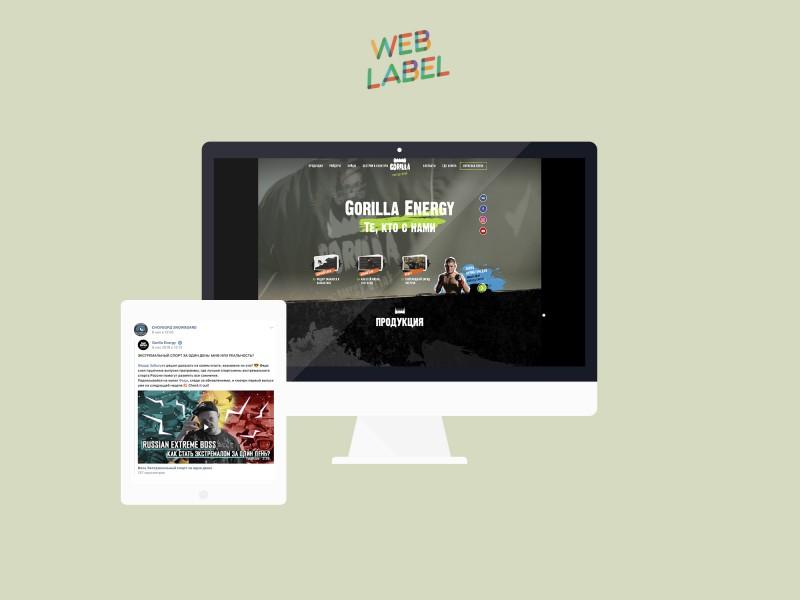 Реклама в Вконтакте для Горилла Энерджи