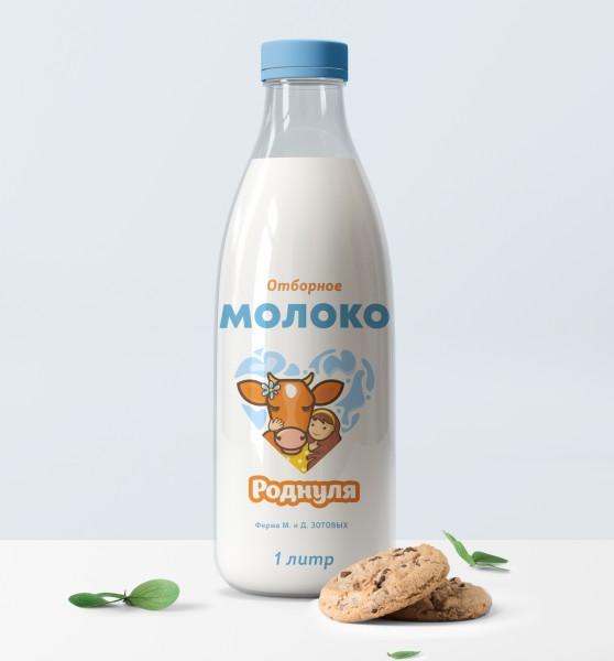дизайн этикетки фермерское молоко