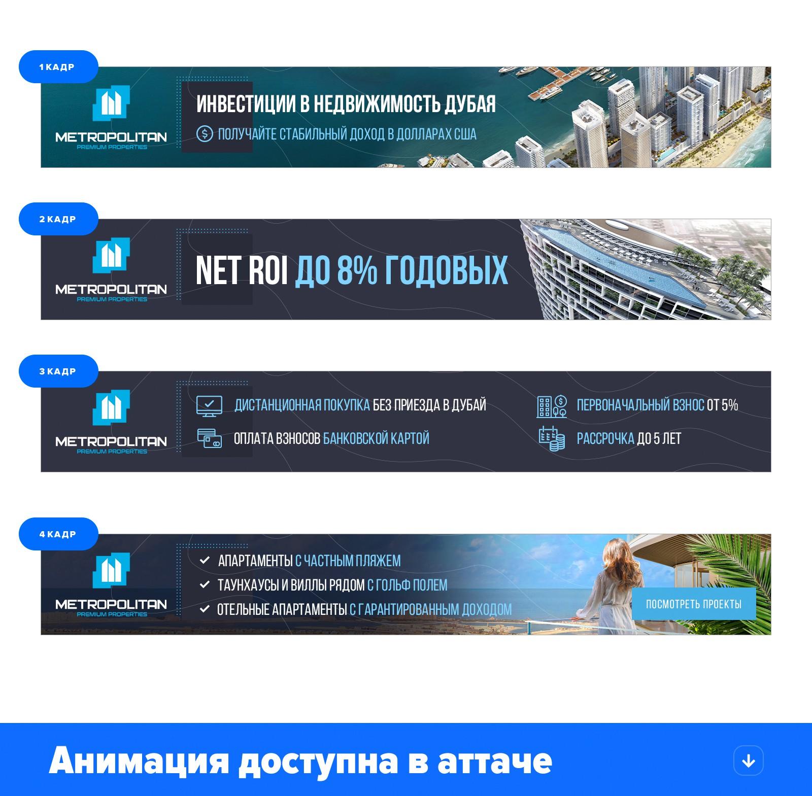 HTML-5 баннер METROPOLITAN