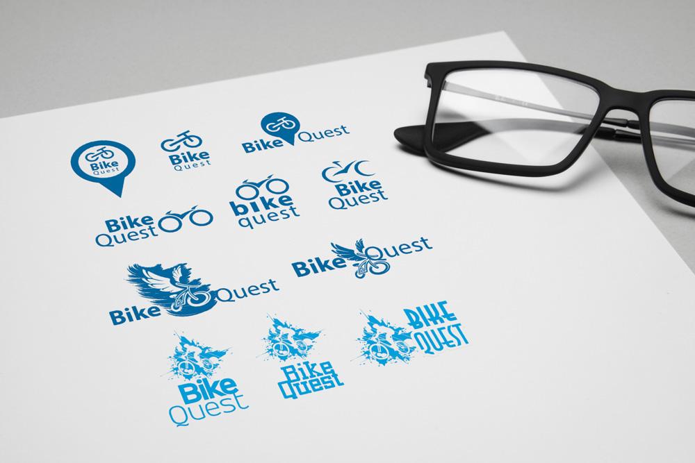 разработка и варианты логотипа для квест группы