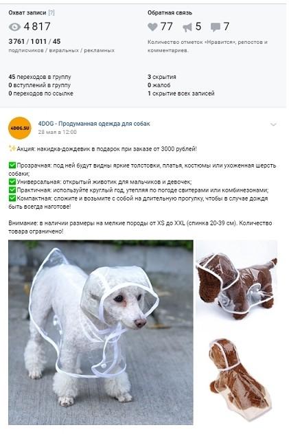 Рекламный пост для Vk.com