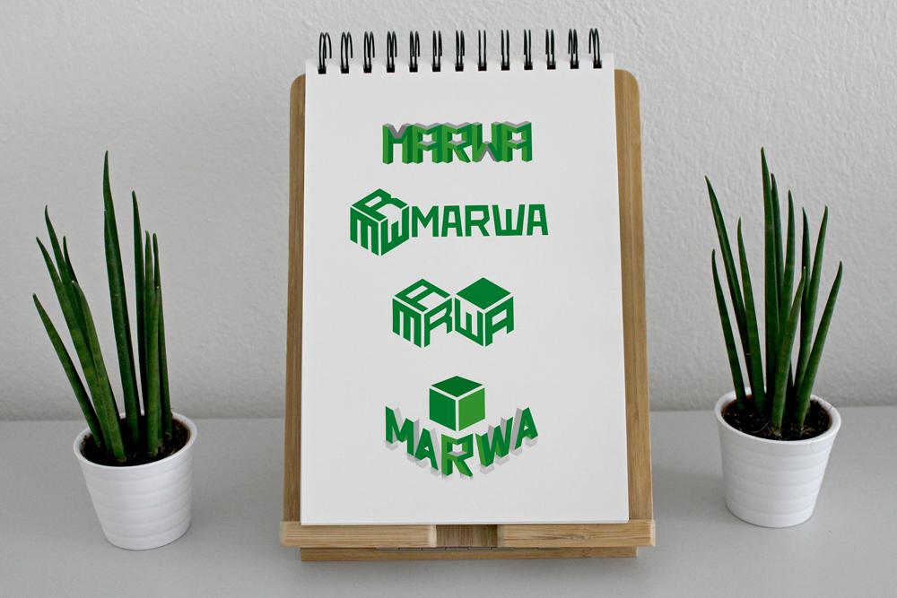 варианты логотипа Марва