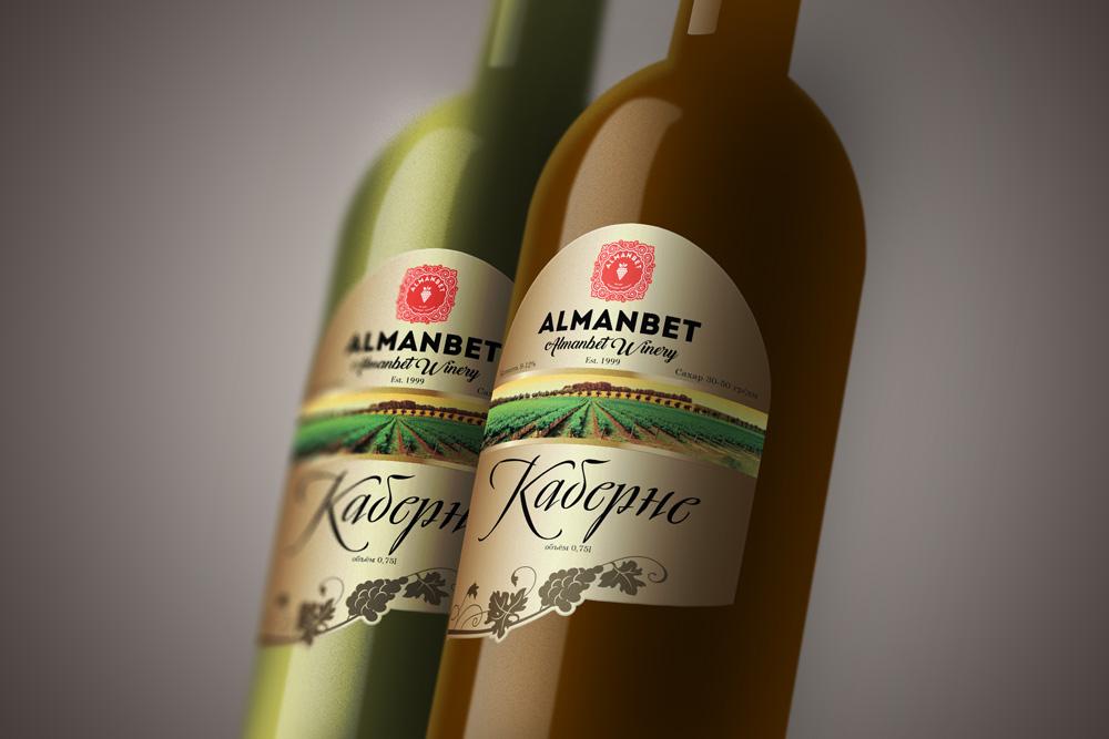 Разработка этикеток для вина производителя Alamber