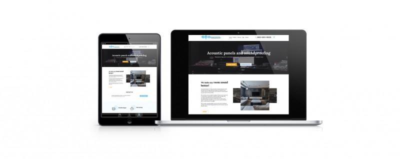 Дизайн интернет магазина для звуковых панелей