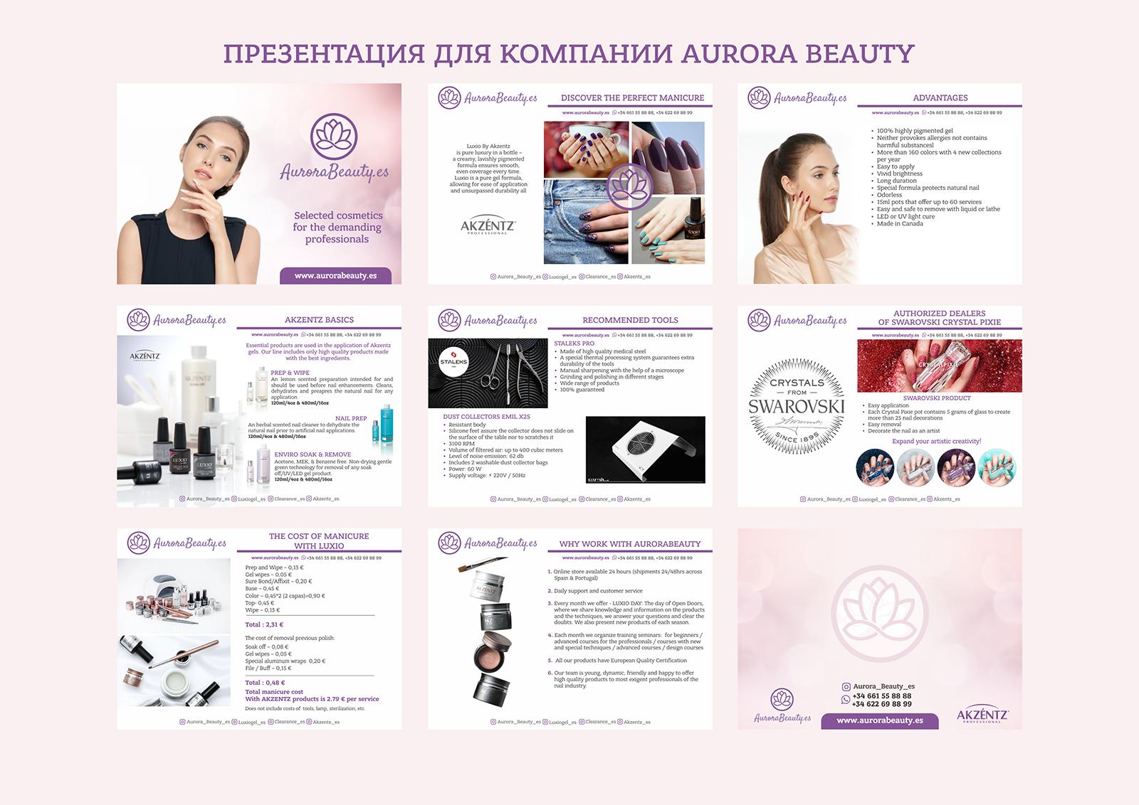 Презентация для Aurora Beauty