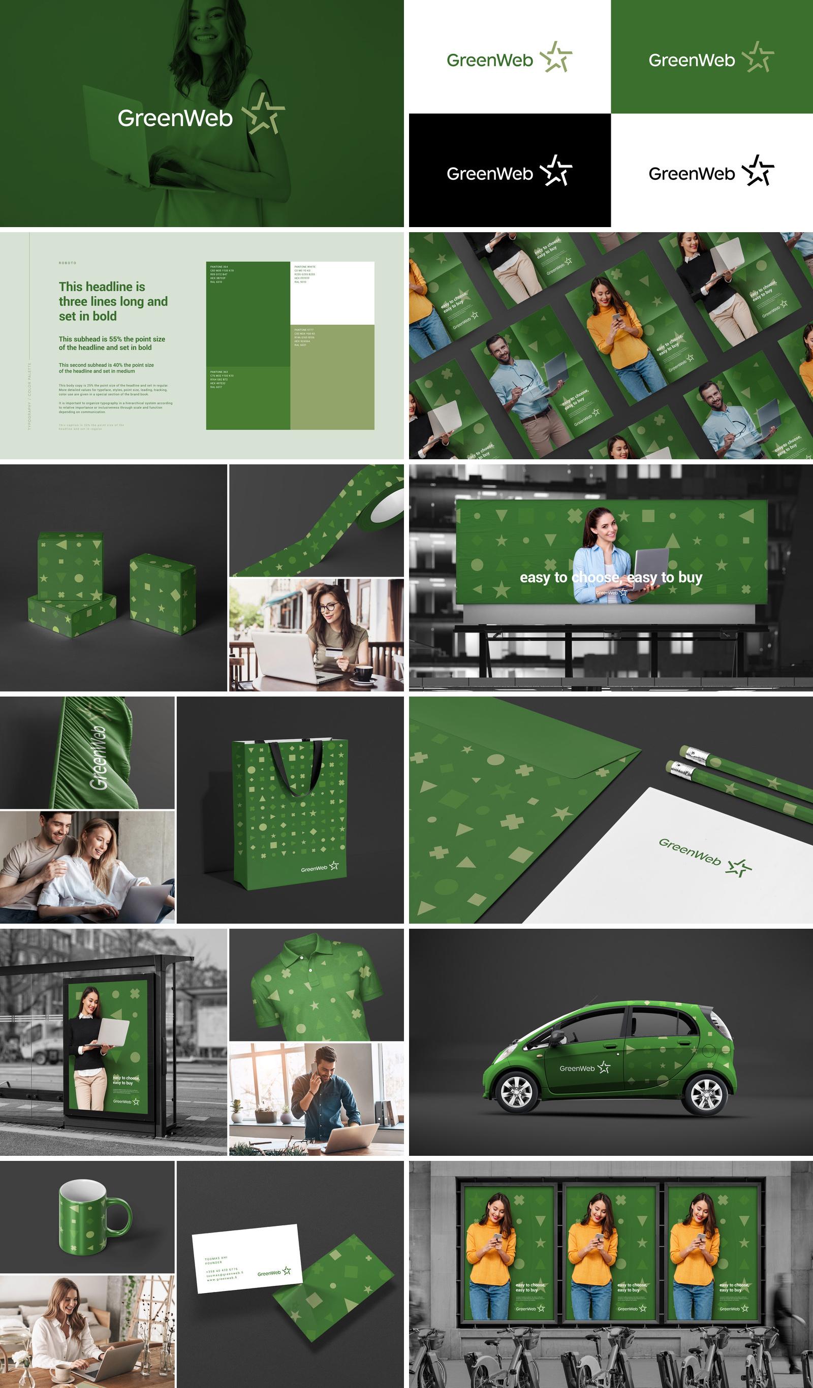 GreenWeb / Разработка визуальной идентичности