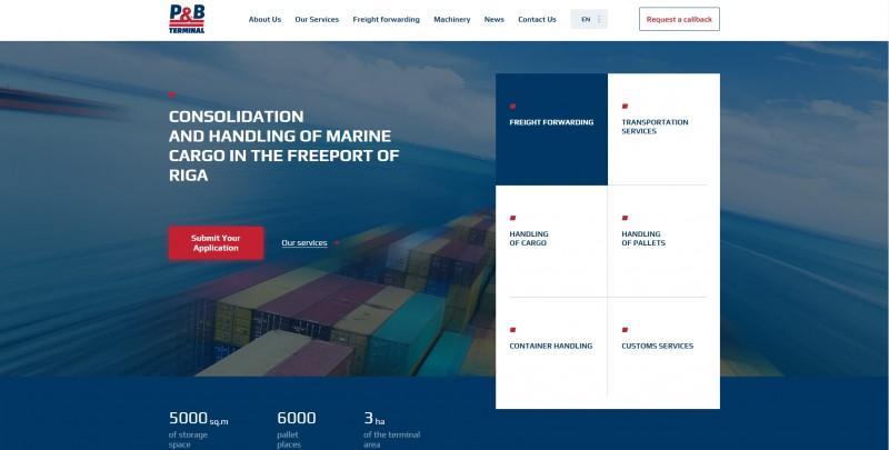 Разработка сайта для компании «P&B Terminal»