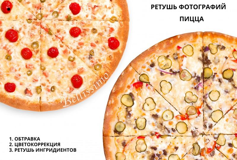 Ретушь фотографий блюд для пиццерии