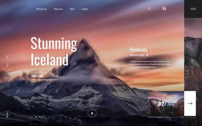 Сайт для путешествий по миру