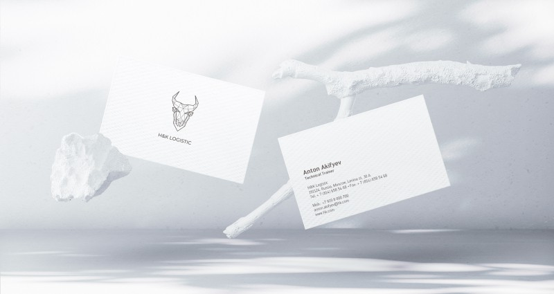 Визитка для компании H&K Logistic