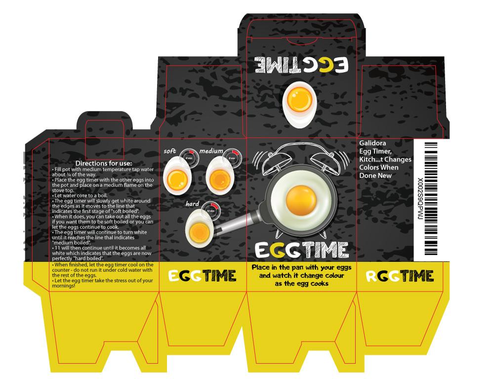 Дизайн бренда и упаковки под EggTime на Amazon