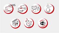 Набор иконок для японского ресторана.