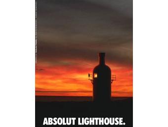 Реклама Absolut Lighthouse