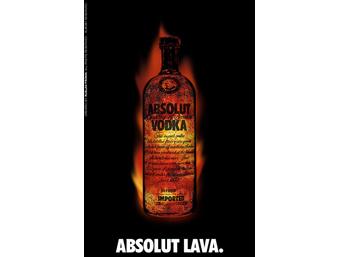 Реклама Absolut Lava