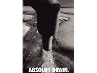 Реклама Absolut Drain