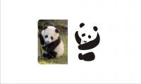 Панда на машину