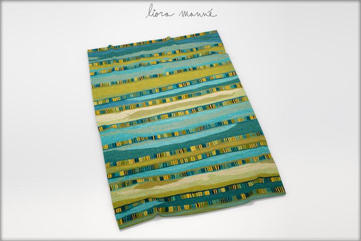 """3D модель полосатого ковра """"Севилья"""" Liona Manne"""