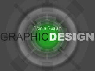 Сайт Pronin Ruslan Graphicdesign