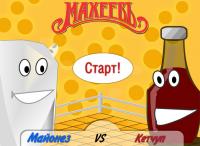 Flash игра. Война майонеза против кетчупа