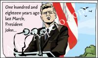 Фрагмент комикса. Джон Кэннеди