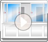 Анимация открытия створок балкона